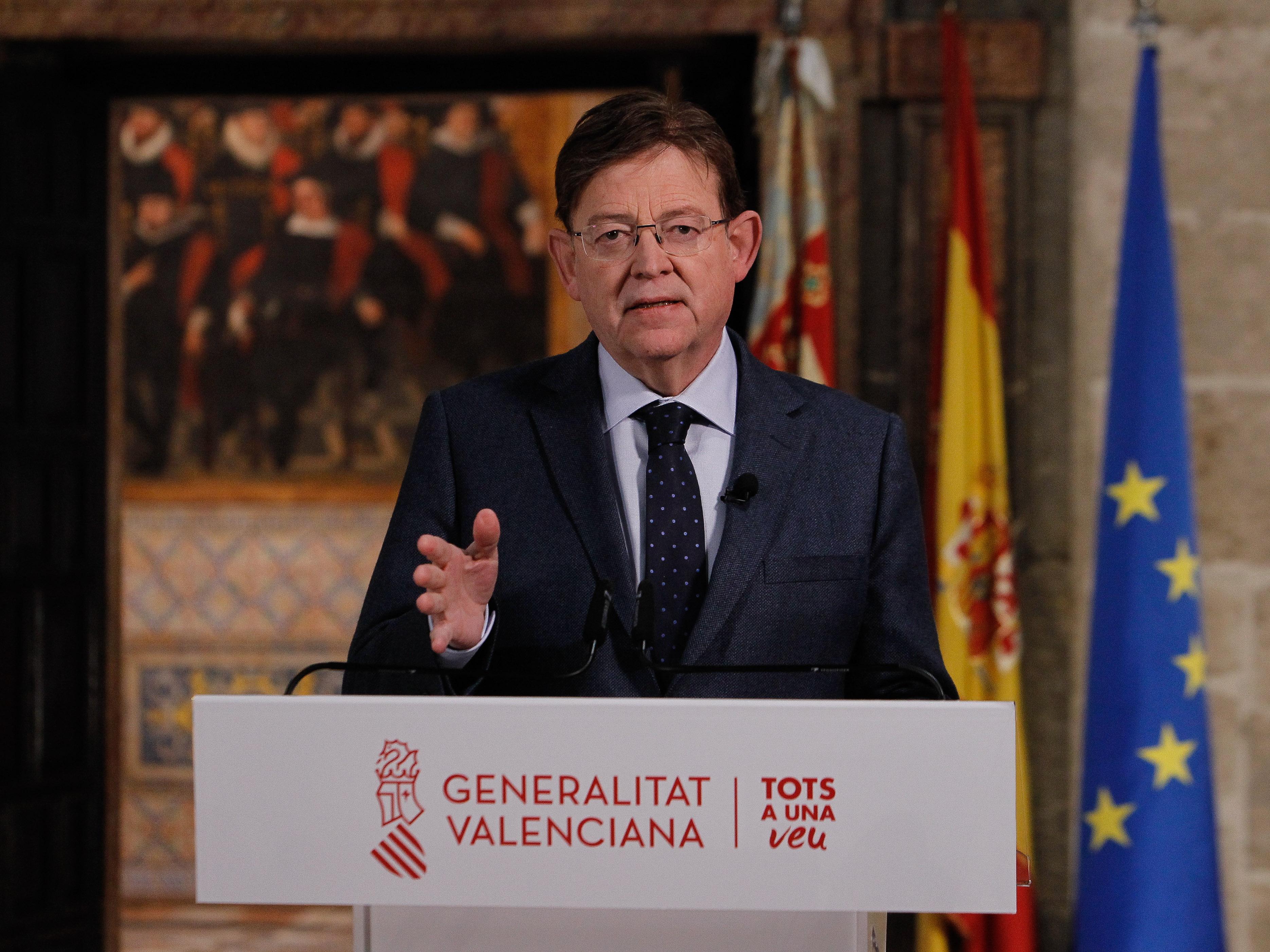 """Ximo Puig pide a la ciudadanía """"máxima prudencia"""" y """"cumplimiento estricto"""" de las restricciones para superar la tercera ola de la pandemia"""