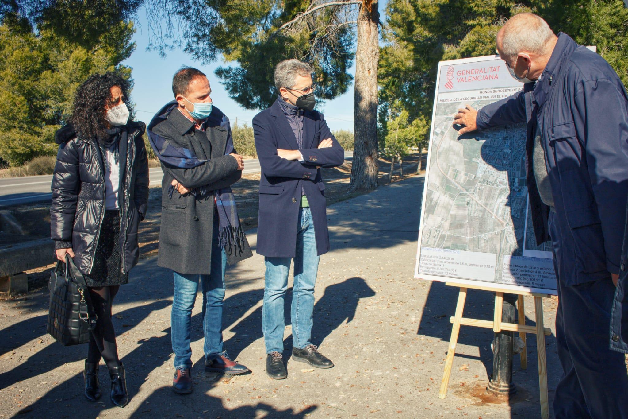Arcadi España anuncia el inicio en primavera de la ronda de Pinoso que evitará que más de 200 camiones crucen el municipio