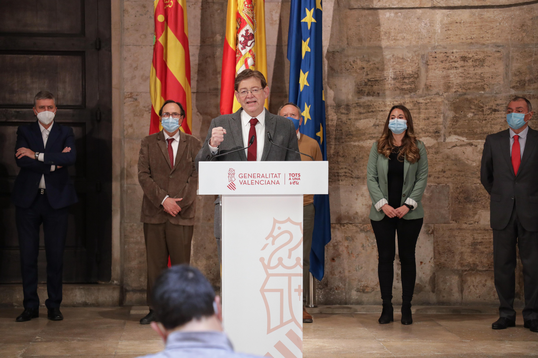"""Ximo Puig presenta el """"Plan Resiste"""" dotado con 340 millones para la re..."""