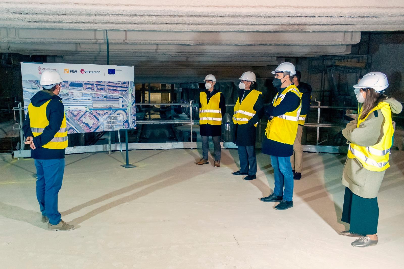 La Generalitat conectará peatonalmente la futura estación de Alacant con las de Xàtiva y Bailén para integrar la Línea 10 en la red de Metrovalencia
