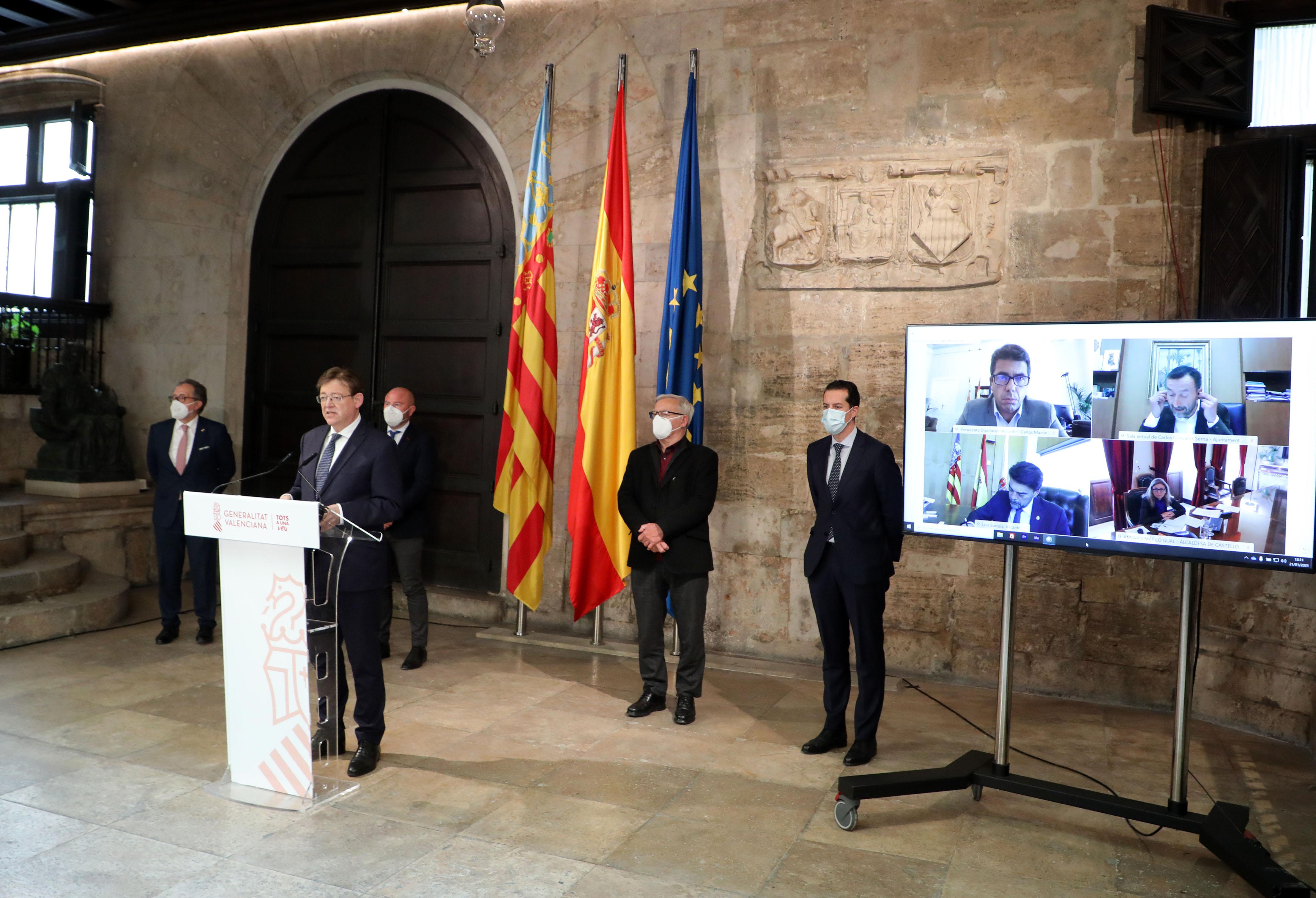 Ximo Puig anuncia que la línea de ayudas Paréntesis para los autónomos y microempresas más afectados por las restricciones de la COVID-19 estará d...