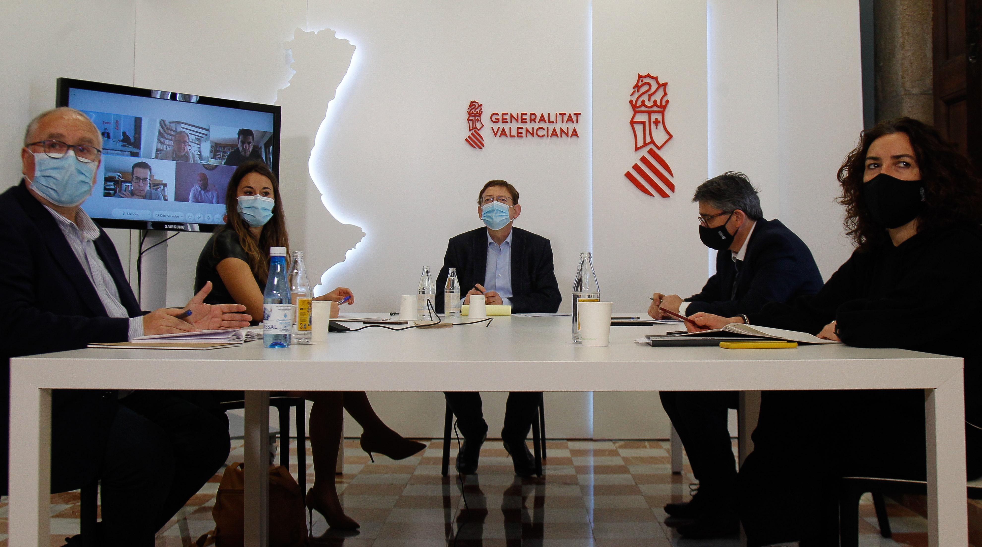 """Ximo Puig avança que 167 municipis s""""han adherit en 72 hores a les ajudes del Pla Resistir, destinades als sectors més afectats per la pandèmia"""