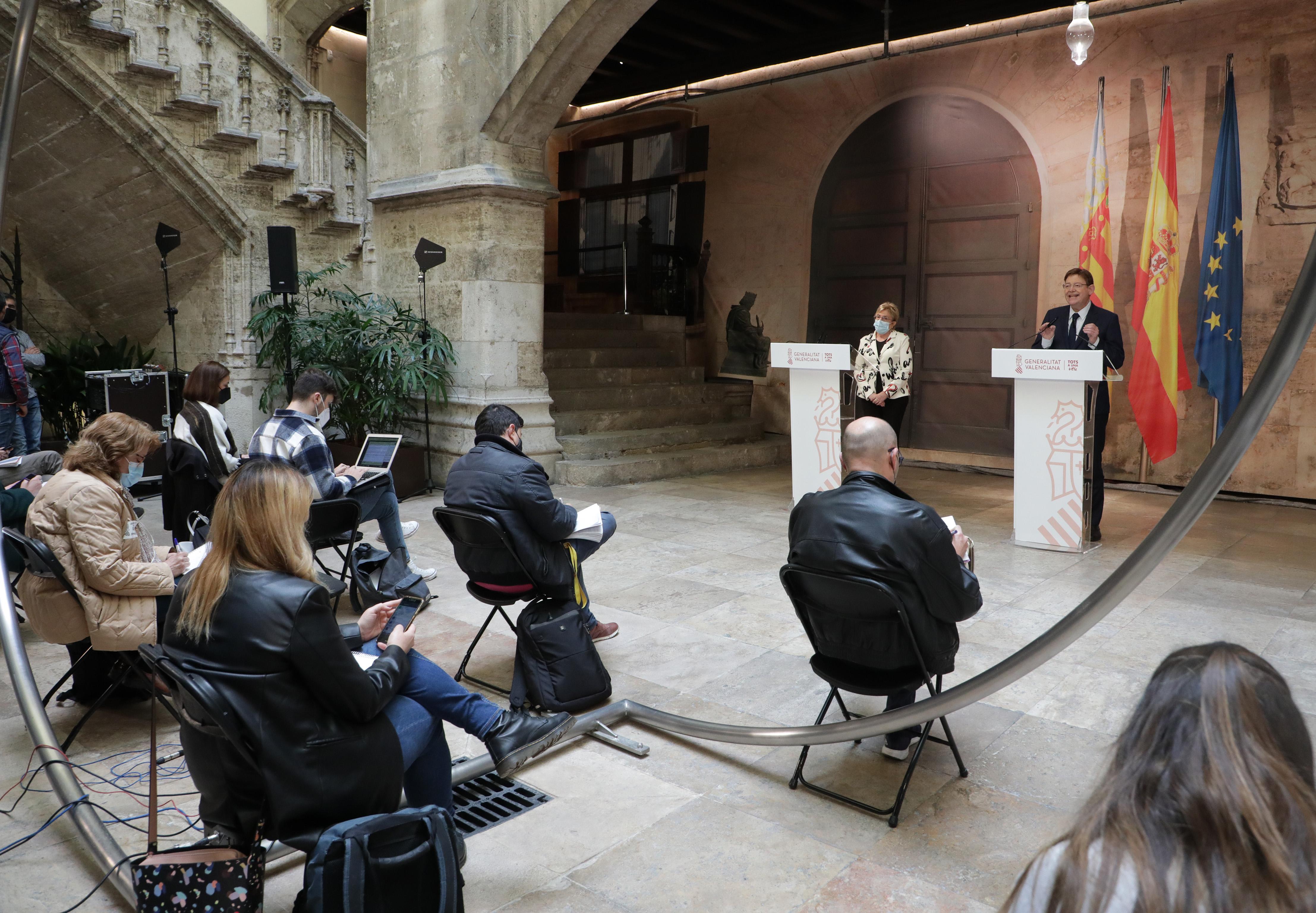 """Ximo Puig anuncia una """"desescalada lenta, prudent i progressiva"""" amb l""""obertura parcial de terrasses i l""""eliminació del perimetratge municipal dur..."""
