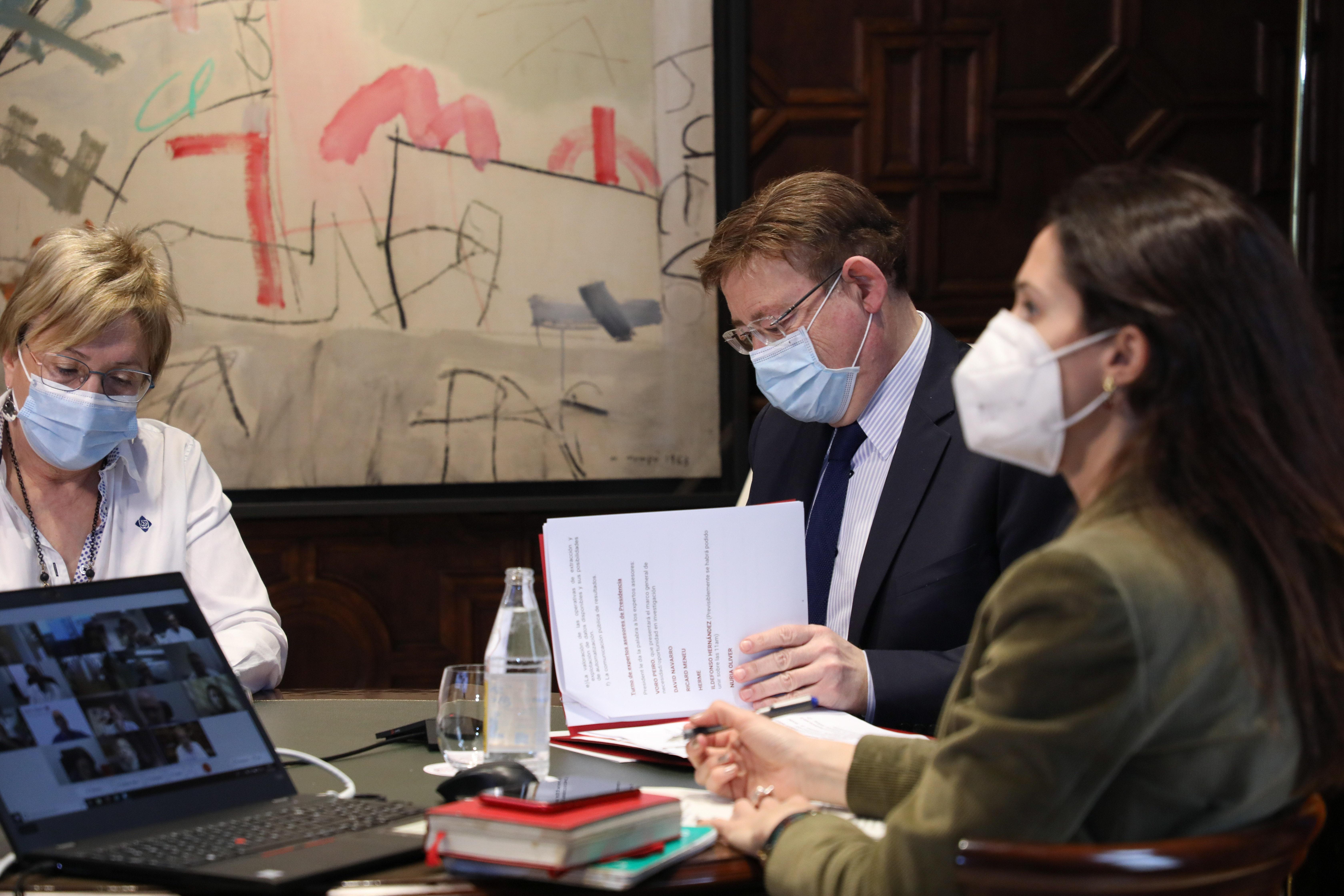 """Ximo Puig destaca que la creación del Programa Valenciano de Investigación Vacunal COVID-19 """"mejorará la efectividad del proceso de inmunización"""""""