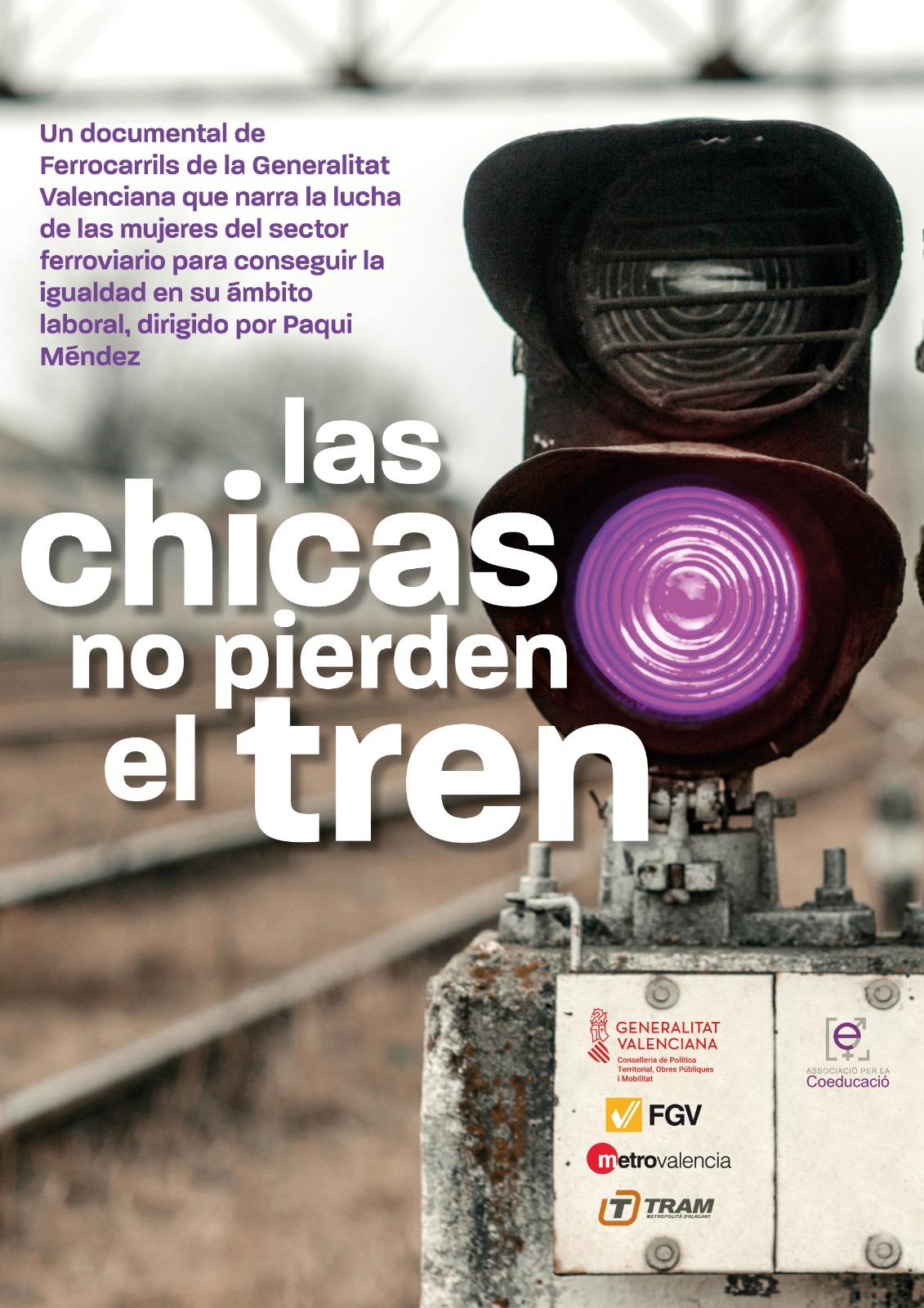 """Ferrocarrils de la Generalitat presenta el curtmetratge """"Les xiques no perden el tren"""" amb motiu del 8 de març"""