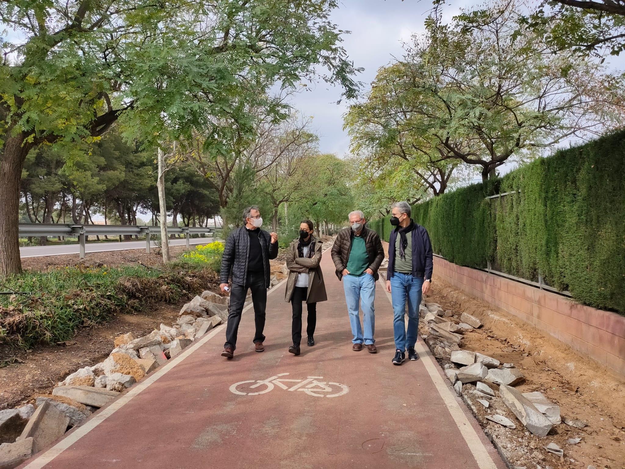 La Conselleria de Obras Públicas concluye el carril bici del Camí de la Pedrera en Picanya en el Tramo Sur del Anillo Verde Metropolitano