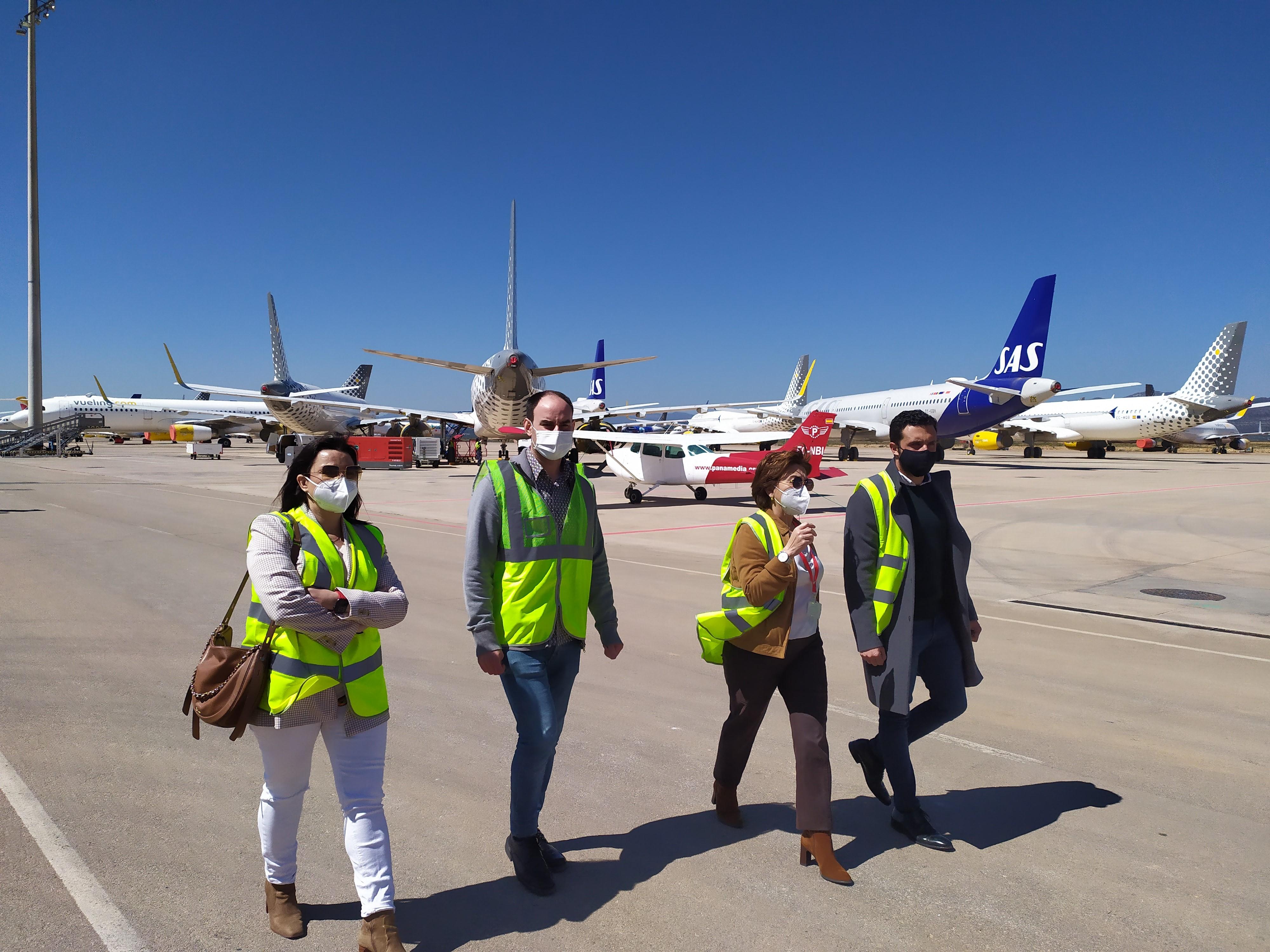 """L""""Aeroport de Castelló exposa els seus projectes i la cartera de serveis a l""""Ajuntament de Sagunt i ASECAM a fi d""""estendre""""n l""""àmbit d""""influència"""