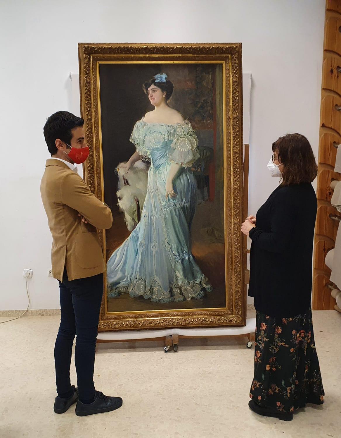 """El quadre d""""Isabel Bru pintat per Sorolla arriba al Museu de Belles Arts de València"""