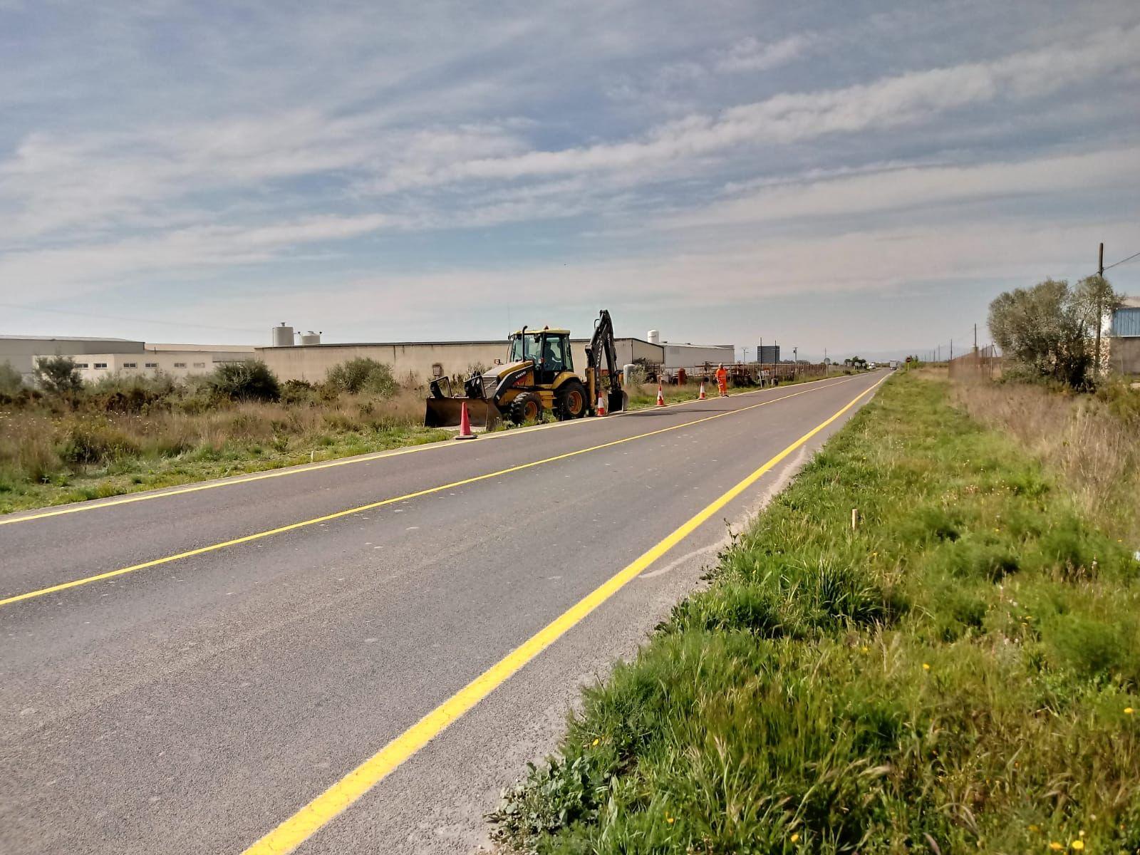 La Conselleria de Obras Públicas inicia la construcción de una rotonda para mejorar la seguridad de los accesos al polígono Planes Altes en Vinaròs