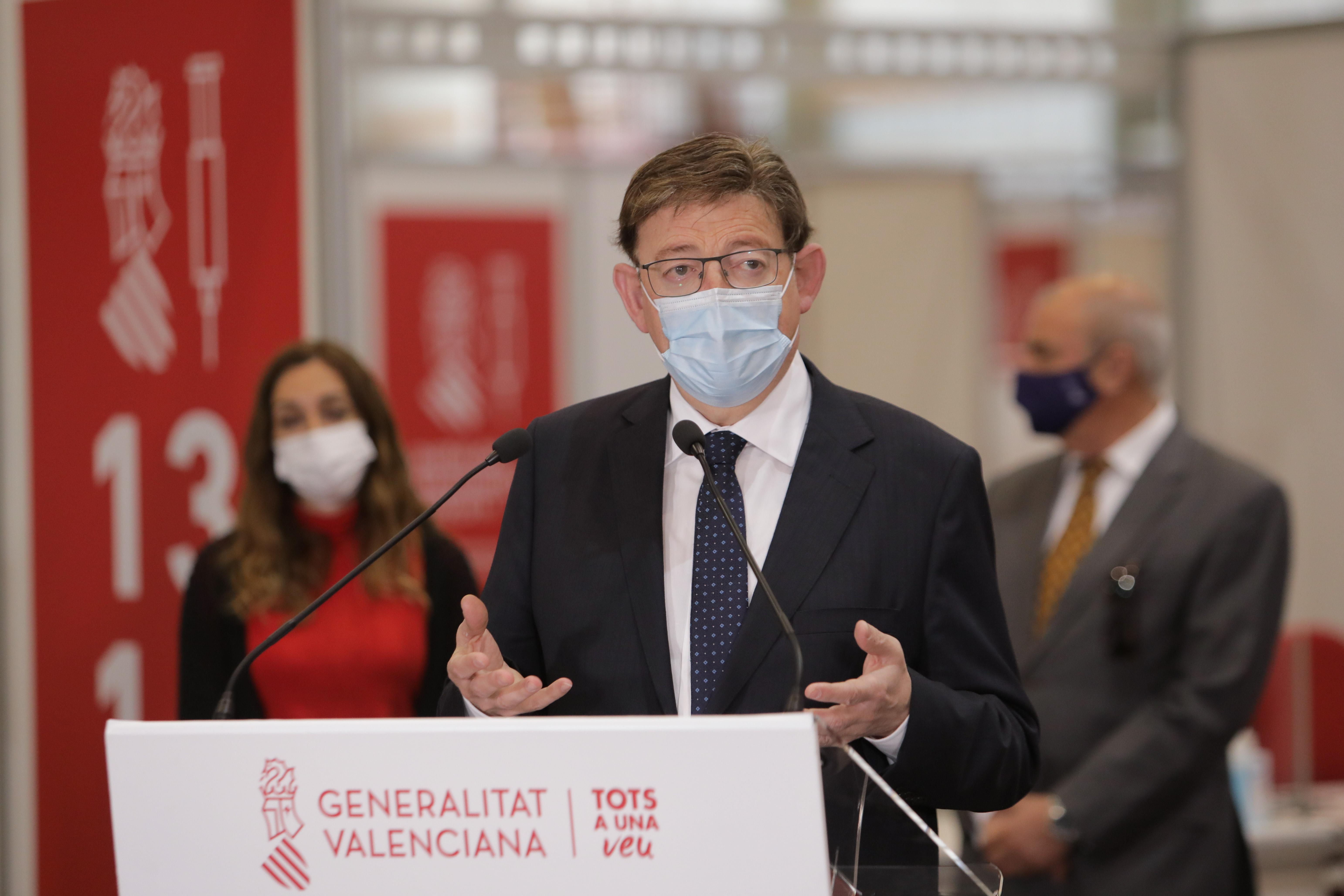 Ximo Puig anuncia que la Comunitat Valenciana rebrà la setmana que ve 401.400 dosis de vacunes contra la COVID-19