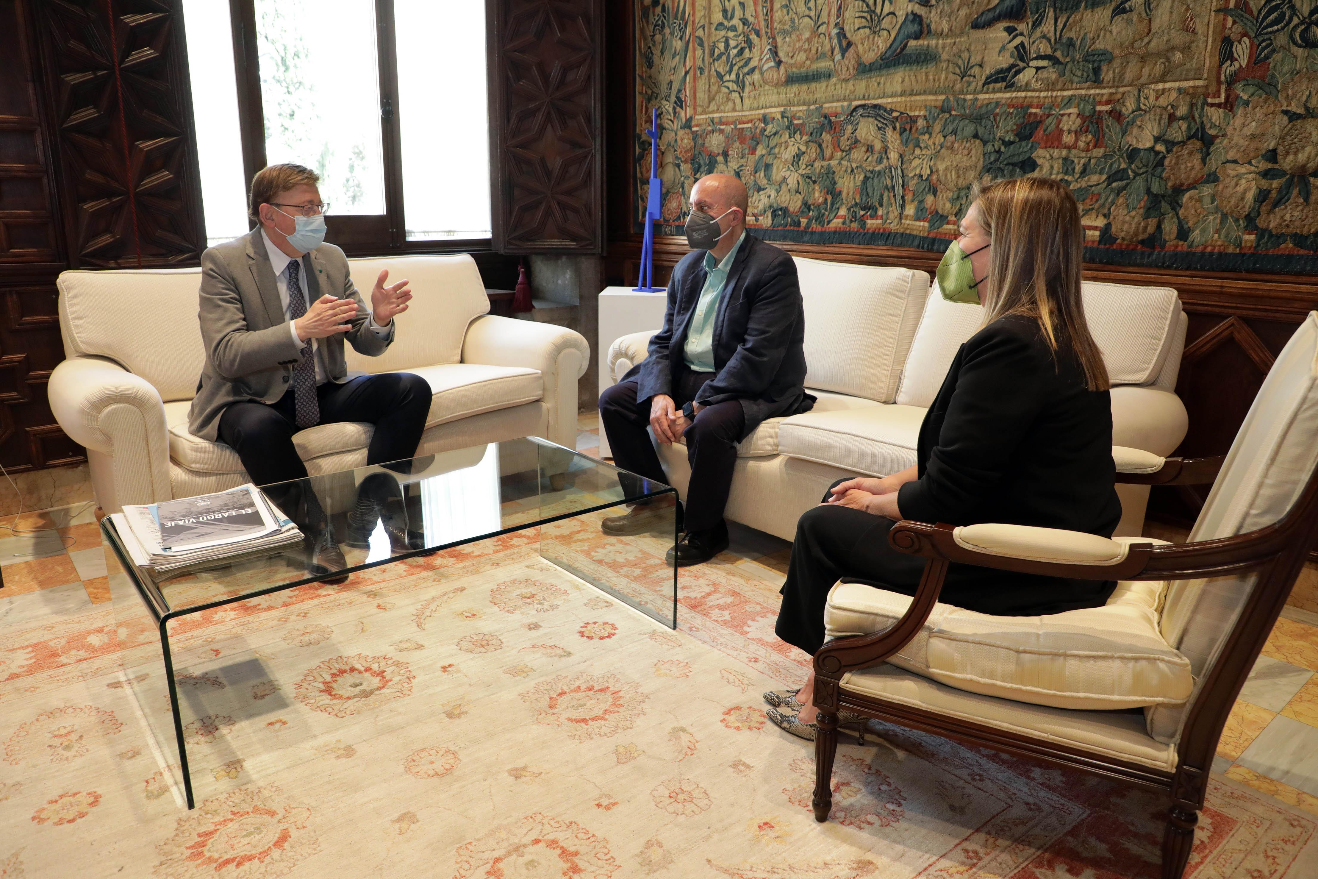 Ximo Puig se reúne con el presidente del Comité Económico y Social de la Comunitat Valenciana