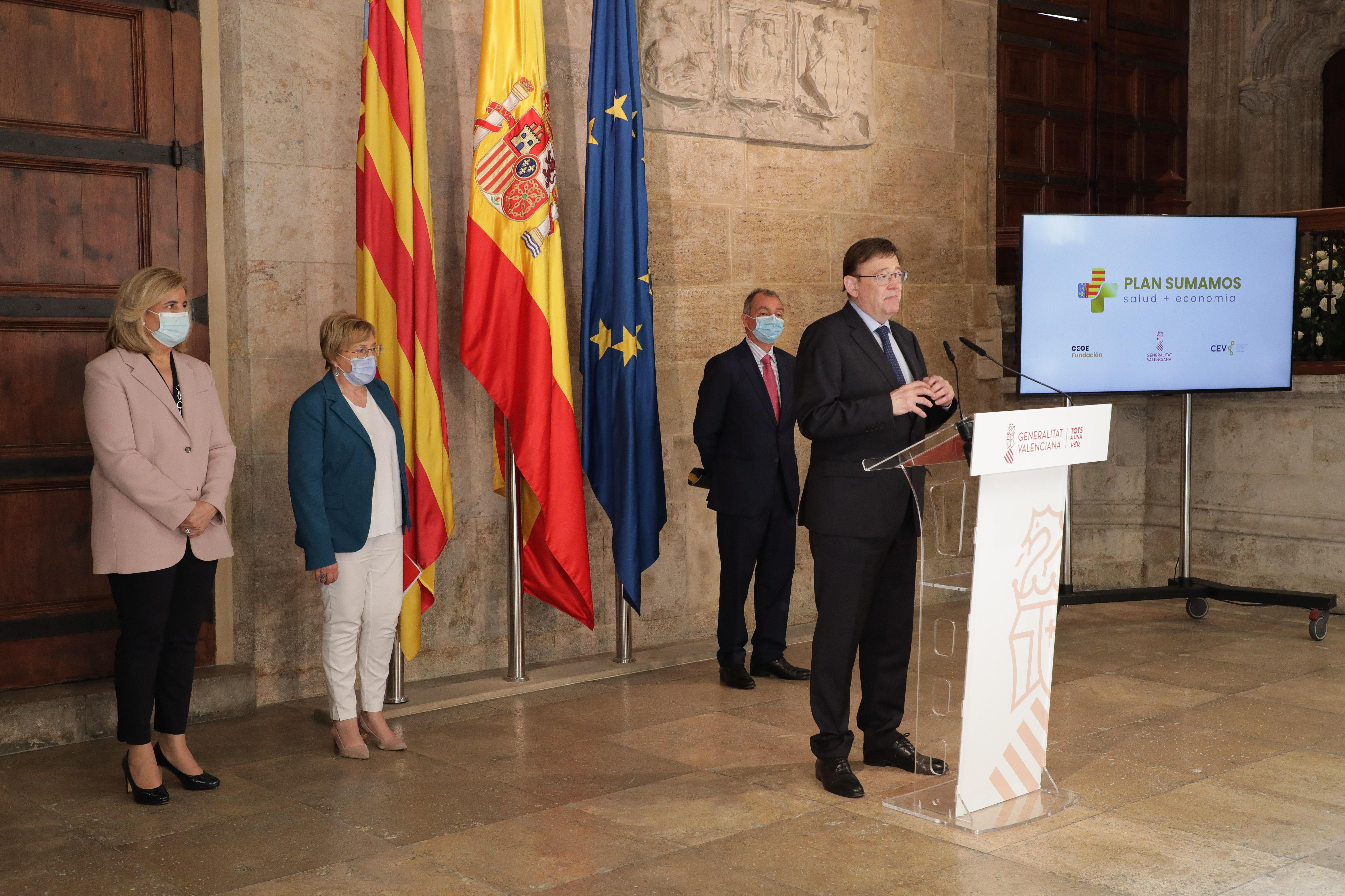 """Ximo Puig anuncia que el 7 de juny començarà la vacunació de 50.000 treballadors de mig centenar d""""empreses"""