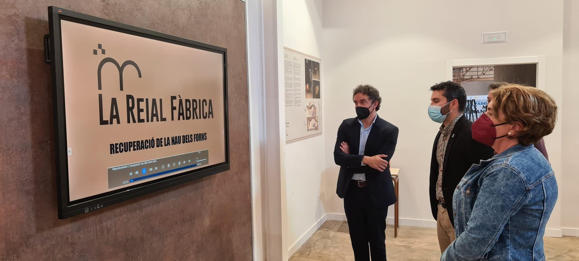 """El secretario autonómico de Turisme visita la rehabilitación de la Real Fábrica del Conde de Aranda en l""""Alcora"""