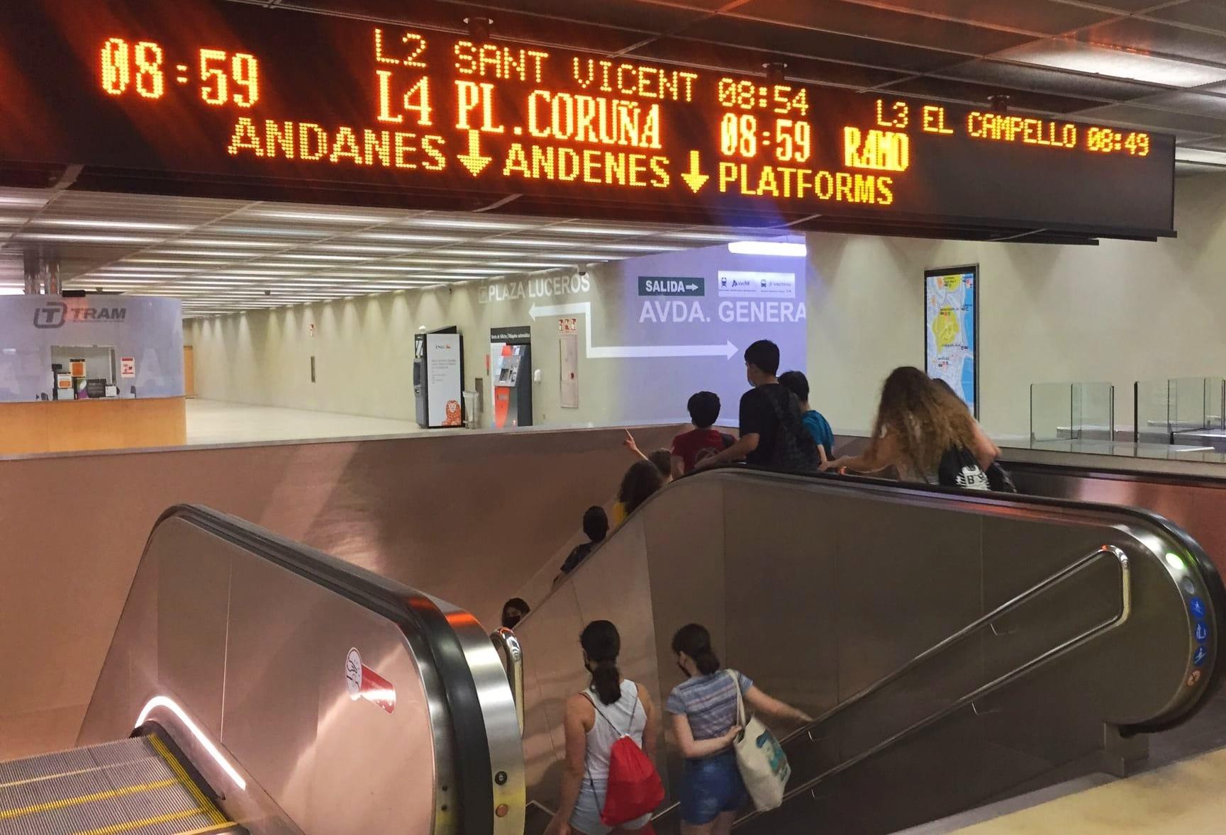 "La Generalitat facilitó la movilidad de 699.016 personas usuarias en TRAM d""Alacant en mayo"
