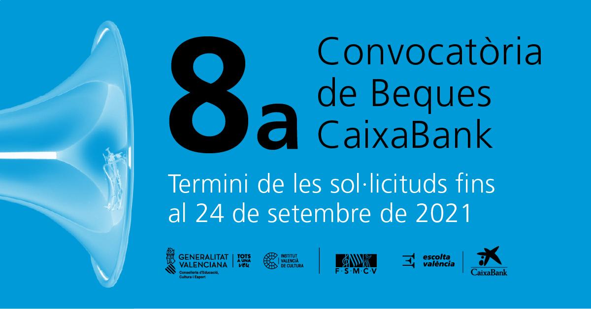 El Institut Valencià de Cultura, CaixaBank y la FSMCV convocan la 8.ª edición de becas para el alumnado de escuelas de música