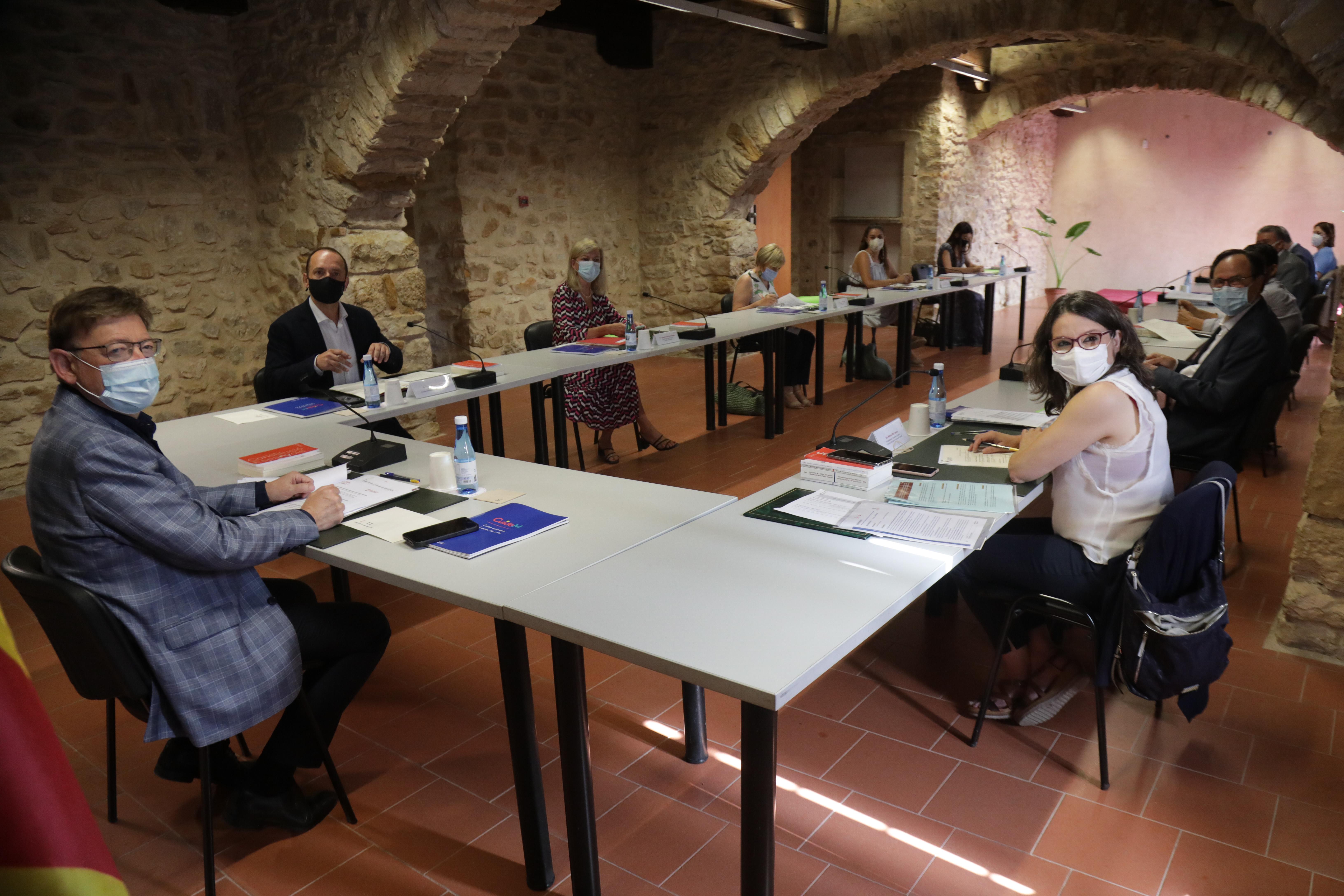 El Consell comienza el Seminari de Govern-Estiu 2021 que se celebra este fin de semana en Albocàsser y Benassal