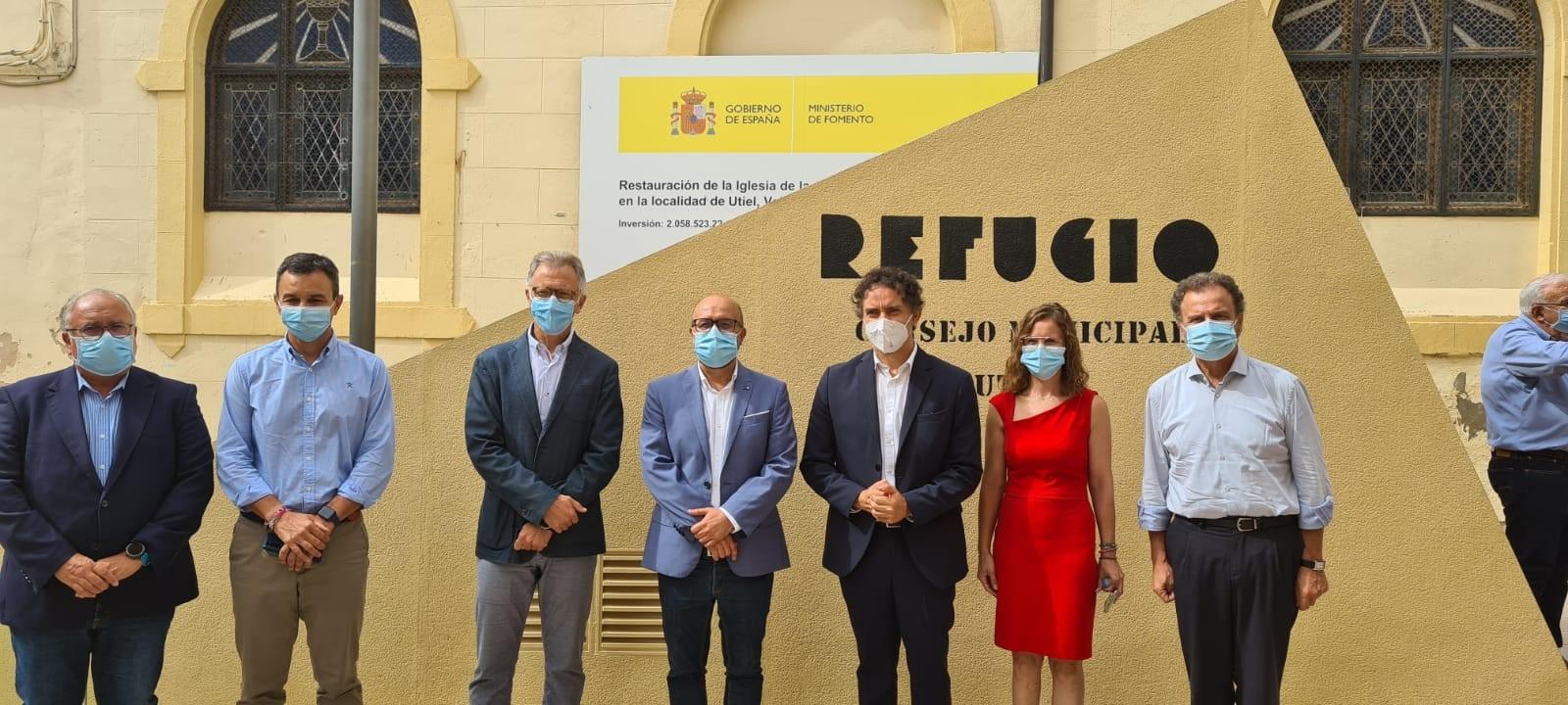 """Colomer inaugura els cellers subterranis de la Puerta del Sol i el refugi antiaeri de la Guerra Civil d""""Utiel"""