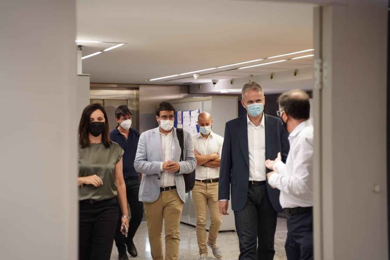 """Héctor Illueca visita Alacant en el primer acte d""""agenda com a vicepresident segon i conseller d""""Habitatge i Arquitectura Bioclimàtica"""