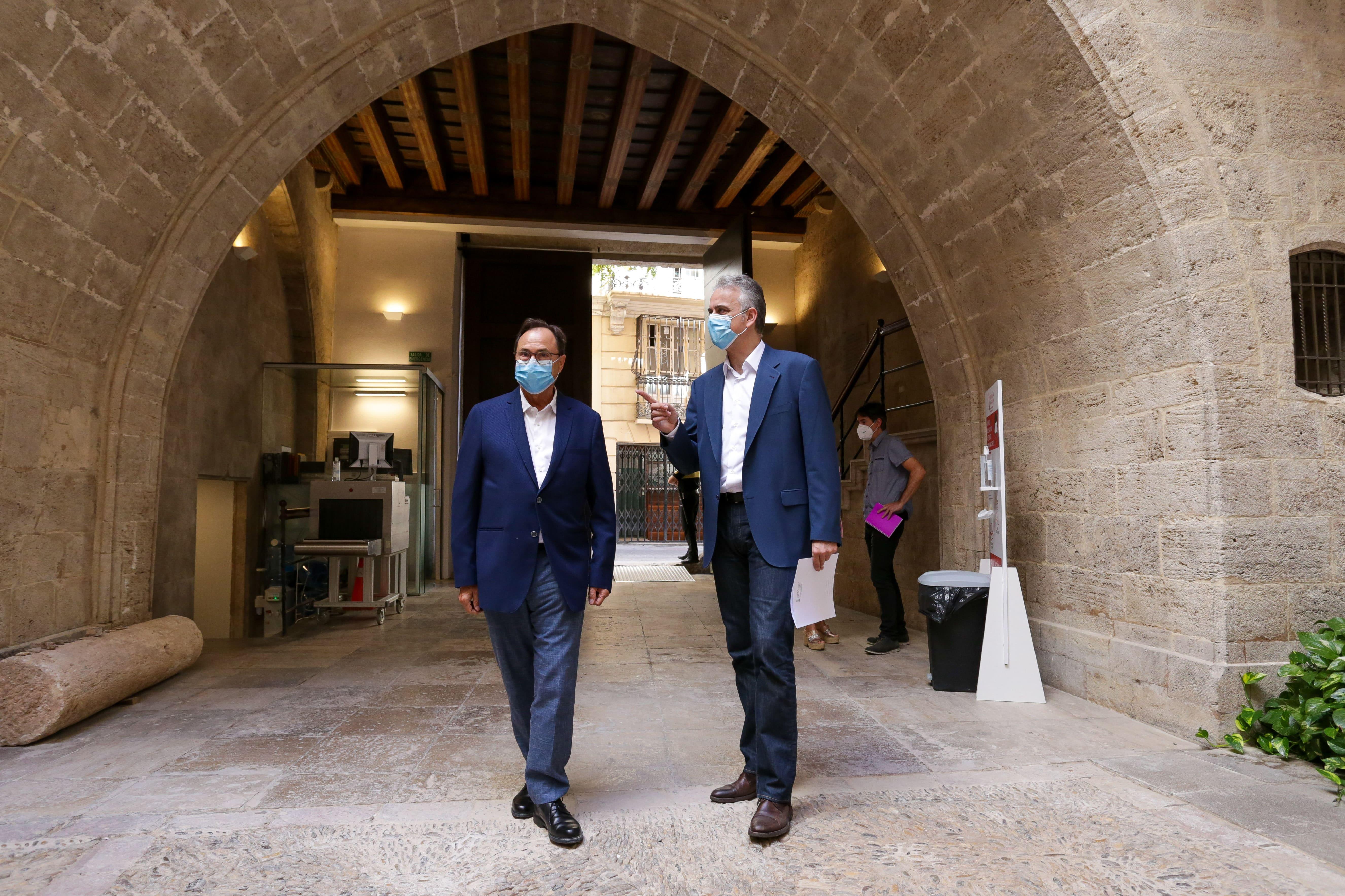 Héctor Illueca y Vicent Soler mantienen un encuentro de trabajo ante los próximos Presupuestos de la Generalitat