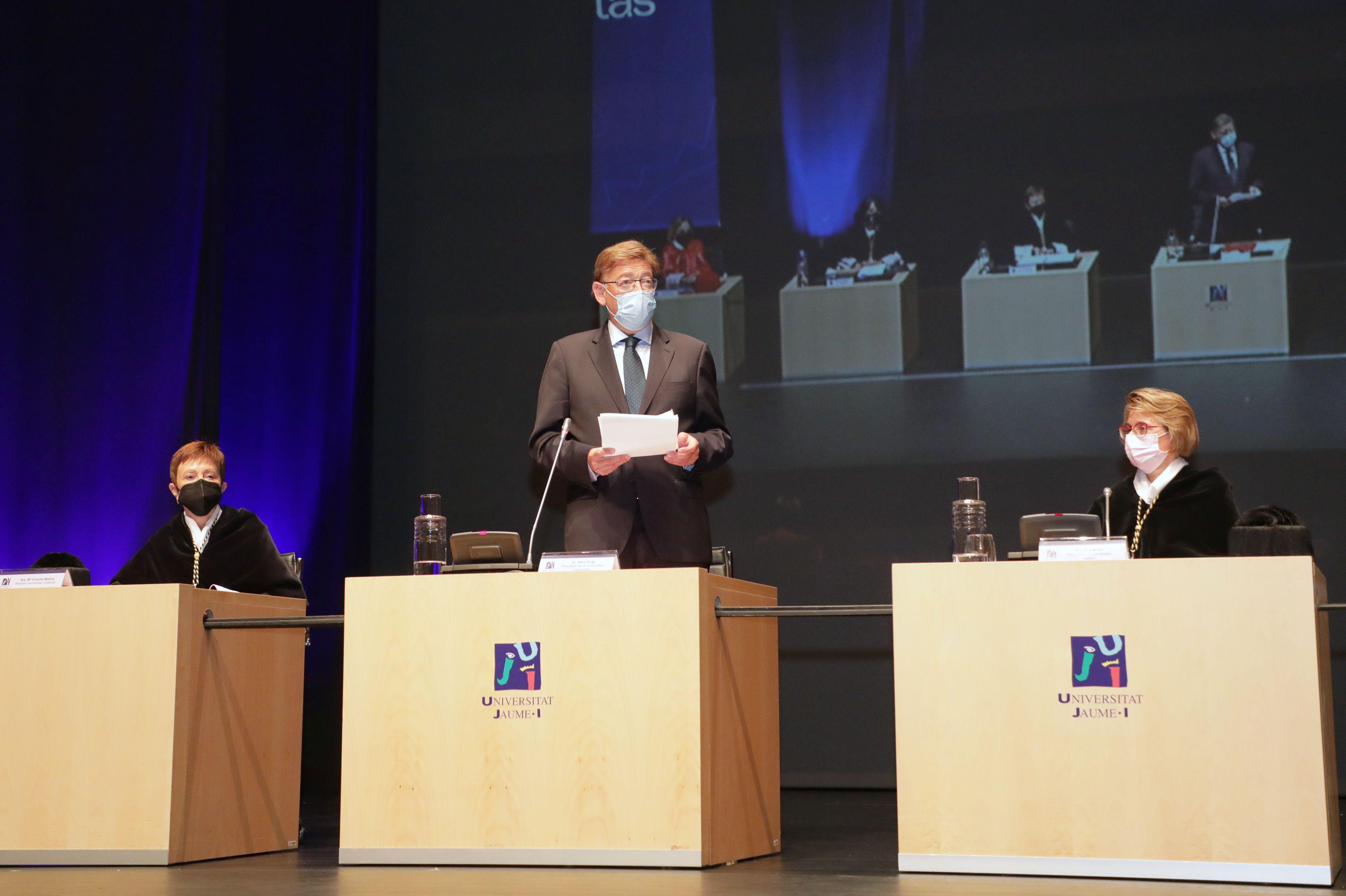 """Ximo Puig destaca que el Consell trabaja para lograr cuanto antes el """"mejor modelo de financiación posible"""" para las universidades"""