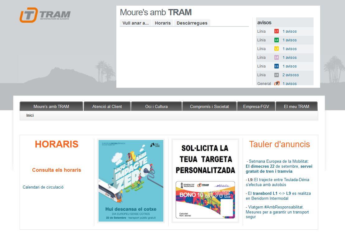 La Generalitat facilita la sol·licitud en línia de les targetes personalitzades de Metrovalencia