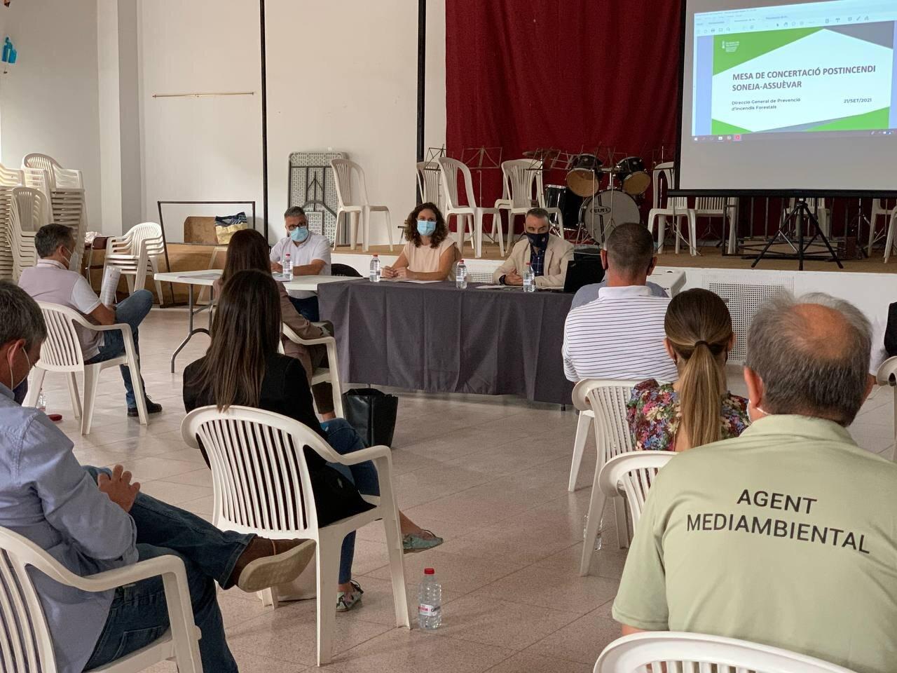 """Transició Ecològica programa una bateria d""""actuacions de restauració de la zona afectada per l""""incendi d""""Azuébar"""