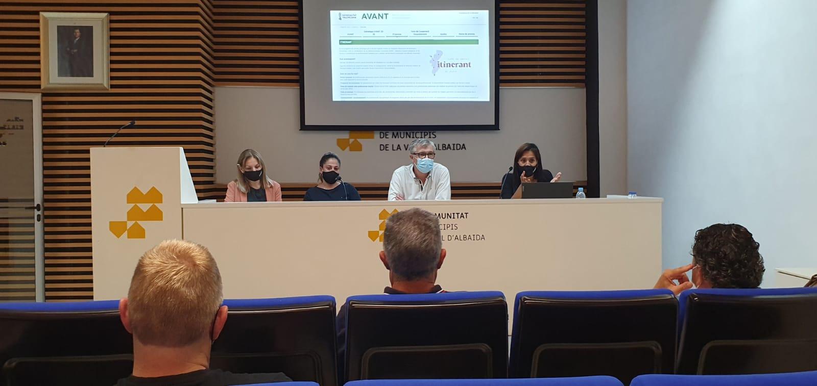 """Avant amplia el programa Itinerant de prestació de serveis a municipis de la Vall d""""Albaida i el Comtat-Alcoià"""