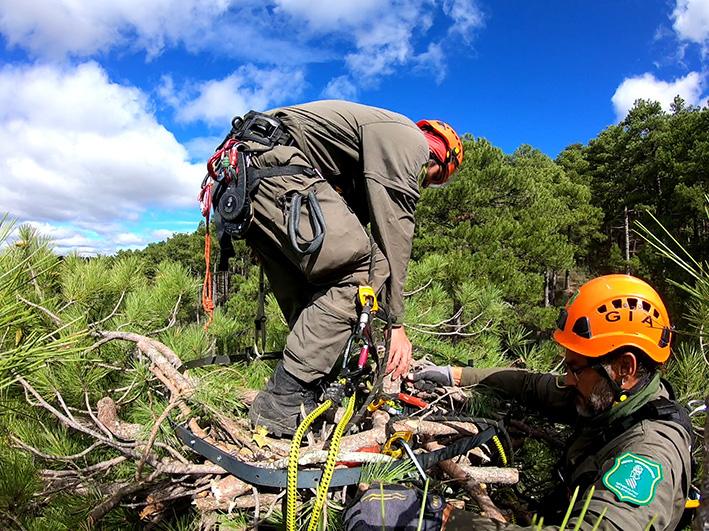 Cuatro agentes medioambientales del Grupo de Intervención en Altura participan en unas jornadas en Castilla La Mancha