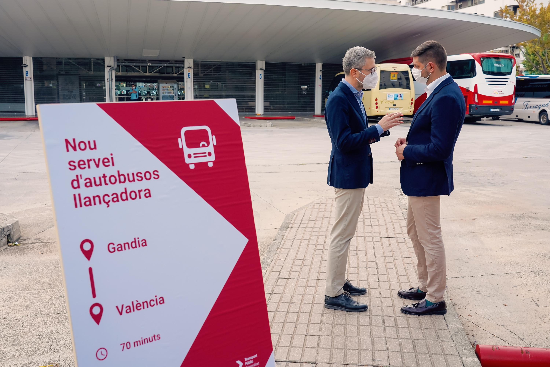 La Generalitat impulsa la conectividad entre València y Gandia con un nuevo servicio de autobús interurbano entre ambas ciudades