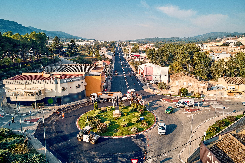 La Conselleria de Obras Públicas invierte más de 800.000 euros para mejorar la seguridad vial de la CV-81 en el término municipal de Bocairent